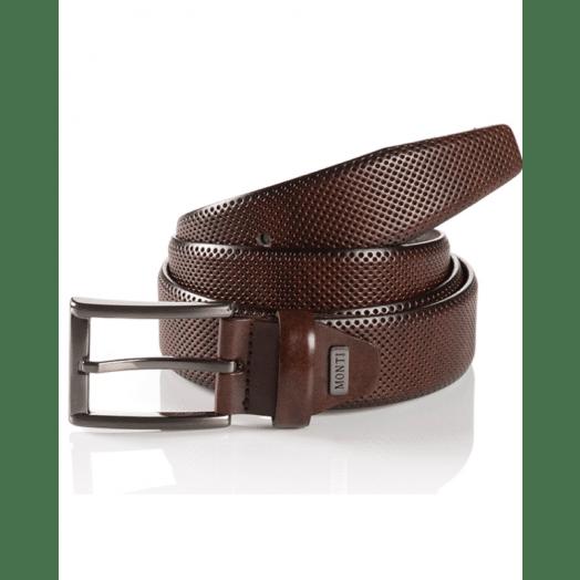 Monti | London Men's Belt-Dark Brown