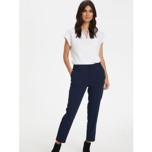 Part Two | Clea Casual Trousers- Navy