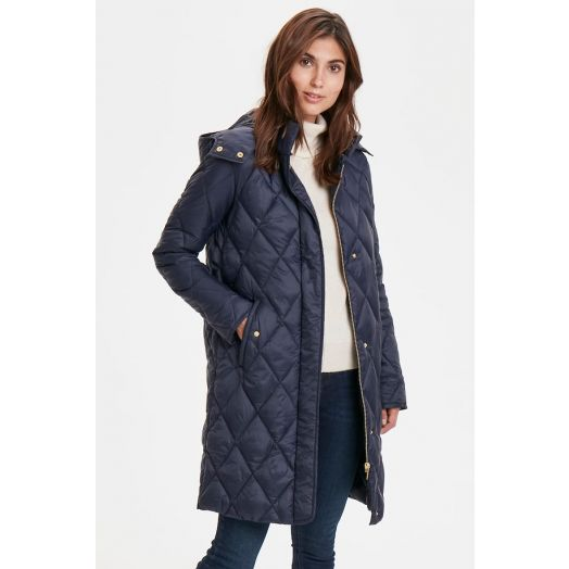 Part Two   Sandra Quilted Coat - Night Sky Navy