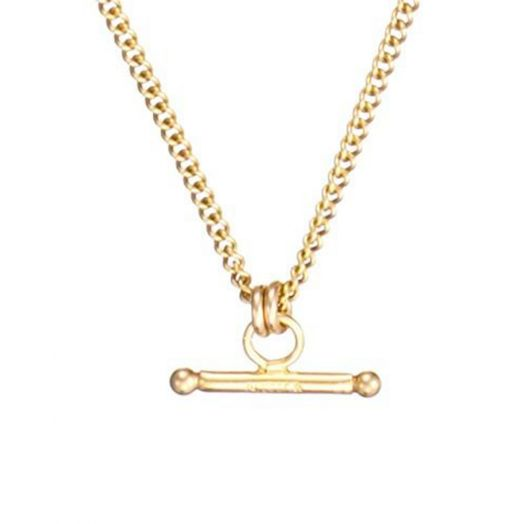 Scribble and Stone | 14ct T-Bar Pendant