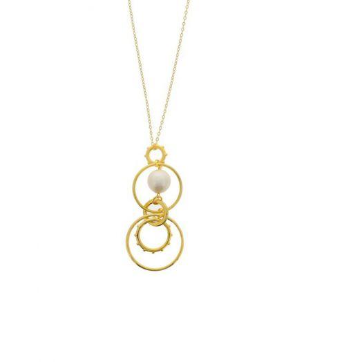 Nour London | Multi Ring Pearl Pendant