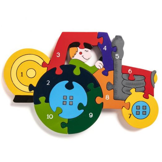 Alphabet Jigsaws   Number Tractor Jigsaw Puzzle