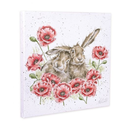 Wrendale | Love is in the Hare Canvas 20cm