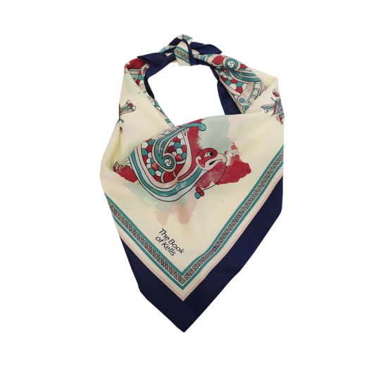 Product shot of Patrick Francis Book of Kells square scarf