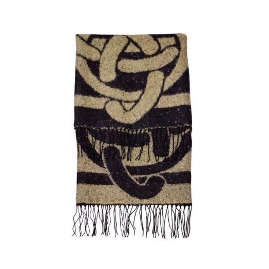 Patrick Francis | Large Celtic Knot Wrap Scarf | Camel