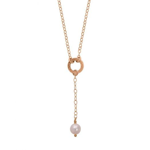 Lulu and Belle | Freshwater Peal Gold Drop Necklace
