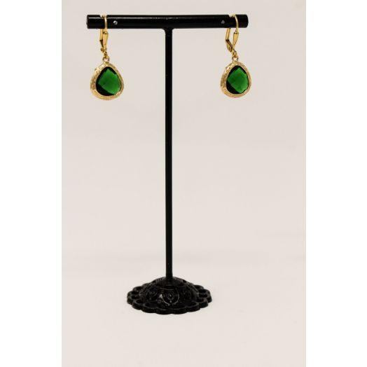 K Kajoux   Roman Green Teardrop Earrings - Short