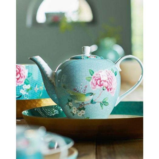 Pip Studio | Blushing Birds Large Teapot | Blue