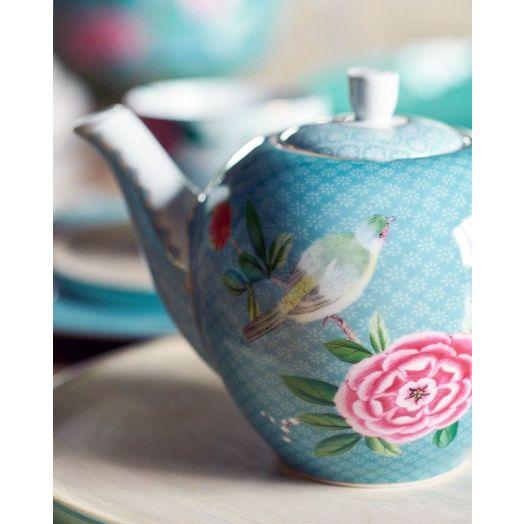 Pip Studio | Blushing Birds Small Teapot | Blue