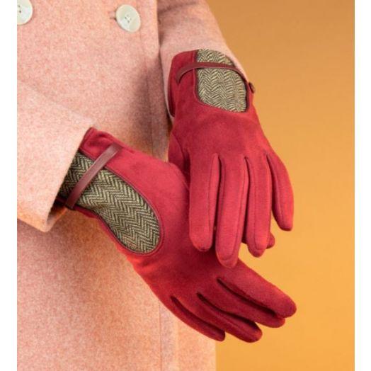 Powder   Genevieve Gloves in Berry