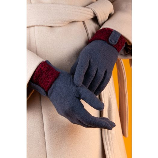 Powder   Monica Wool Gloves in Charcoal