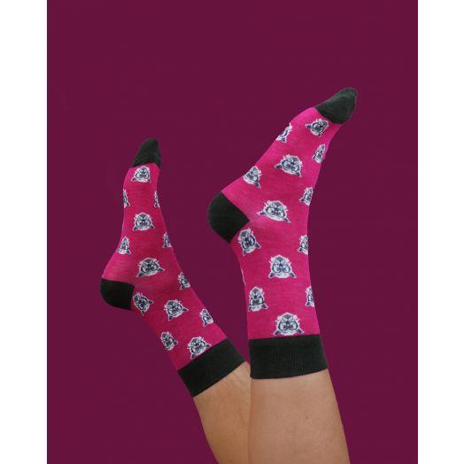Powder | Men's Clever Westie Socks- Fuchsia