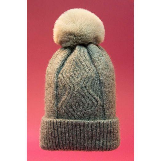 Powder | Ingrid Bobble Hat in Slate