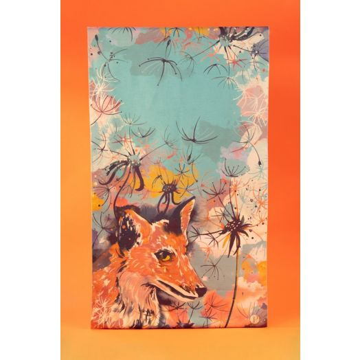 Powder | Luxurious Fox Print Scarf