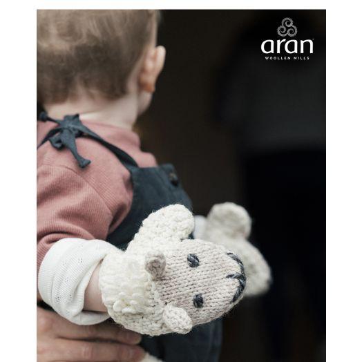 Aran Woollen Mills | Handknit Sheep Mittens | R777 - Natural