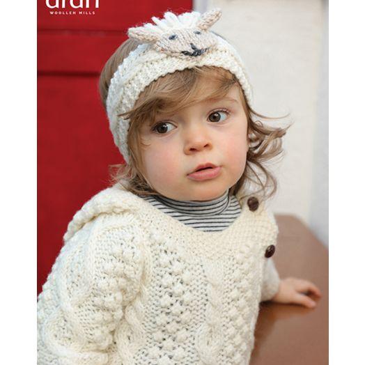Aran Woollen Mills | Baby Handknit Sheep Headband | R779 - Natural/Oat