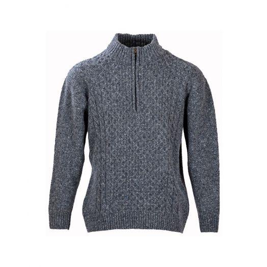 Men's Luxury Donegal Aran Sweater
