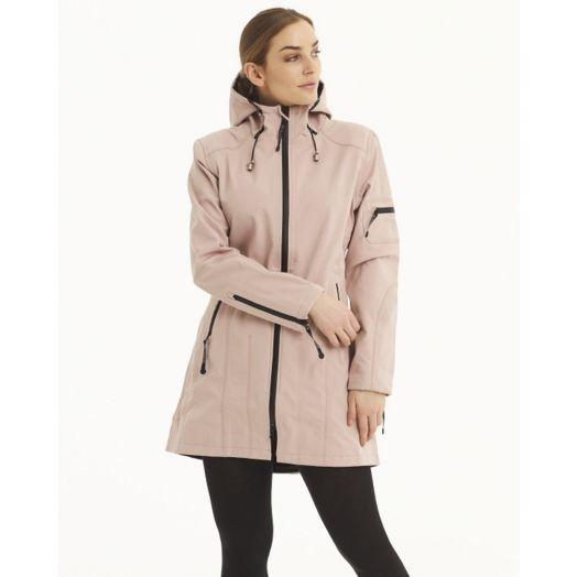 Ilse Jacobsen | Softshell Raincoat  Rain7| Adobe Rose