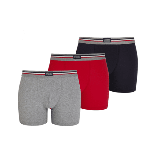 Jockey | 3 Pack Cotton Stretch Boxer Trunks-Grey