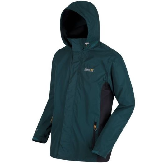 Regatta | Matt Lightweight Waterproof Jacket with Concealed Hood-Deep Pine