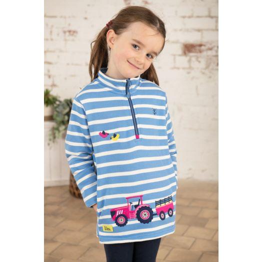Lighthouse   Robyn Marine Stripe Tractor Sweatshirt - Blue