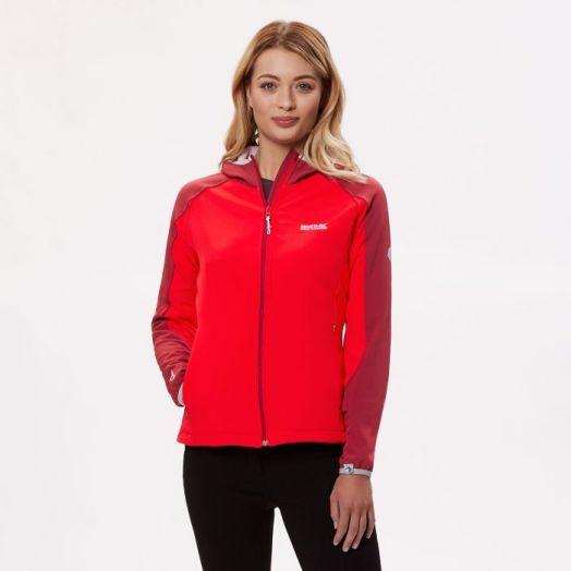 Regatta   Arec ll Hooded Stretch Softshell Jacket-Red Alert