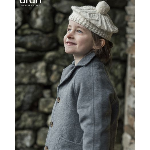 Aran Woolen Mills | Children's Handknit Beret | S170- Natural