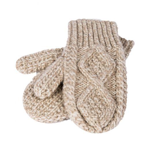Aran Woollen Mills | Kids Handknit Mittens | S172 - Honey Oat