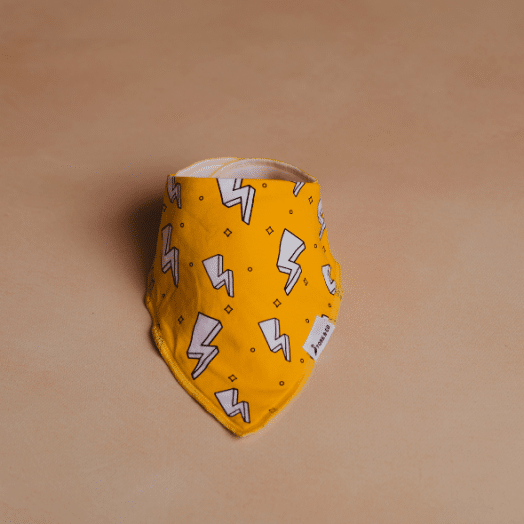 The Stork Box | Hero Bandana Dribble Bib- Yellow