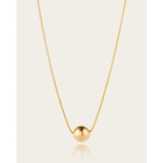Scribble and Stone | 14kt Minimalist Ball Pendant