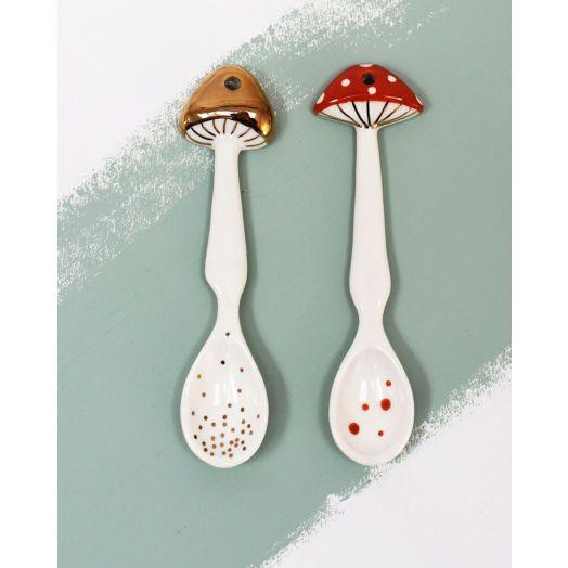 House of Disaster | Secret Garden Mushroom Spoon Set of Two
