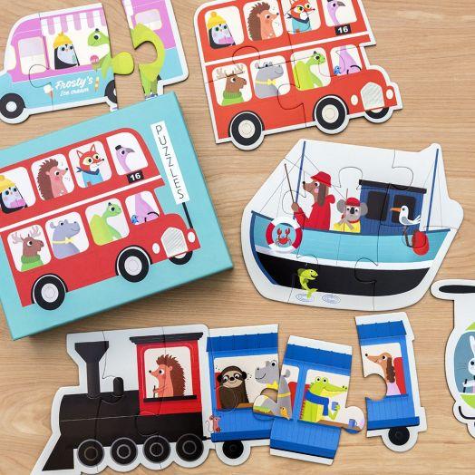 Rex London | Set Of 6 Transport Puzzles