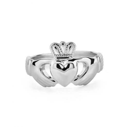 Men's Sterling Silver Claddagh Ring