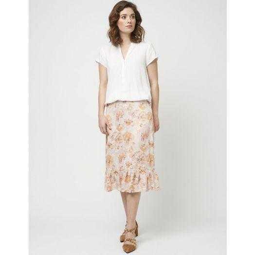 Soya Concept | Eloise Print Skirt | Misty Rose