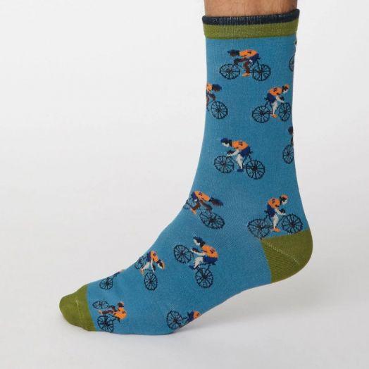 Thought | Garra De Brici Socks - Dusty Blue