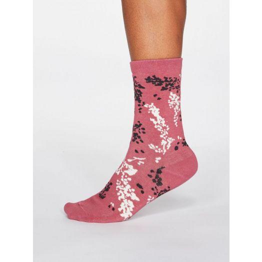 Thought | Women's Orpha Socks - Dark Rose Pink