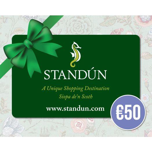 Standún Postal Gift Card: €50