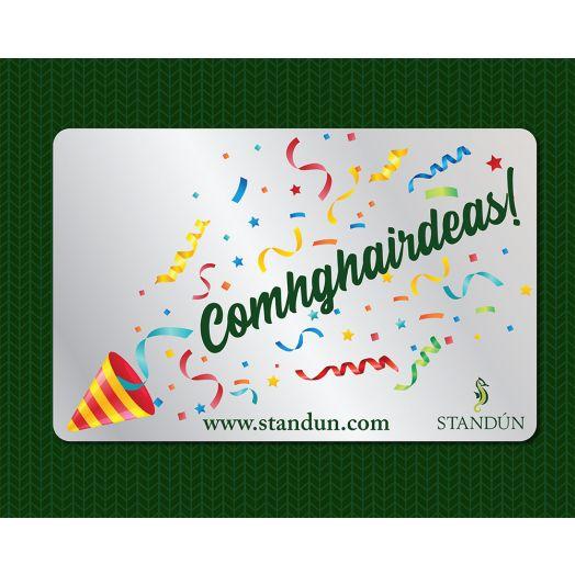 Standún eGift Card: Comhghairdeas