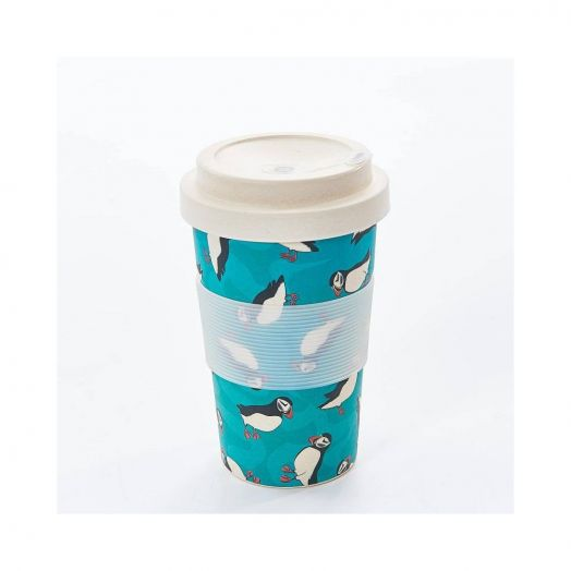Eco Chic | Teal Puffin Bamboo Cup