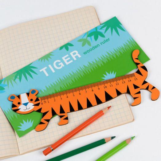 Rex London | Tiger Wooden Ruler