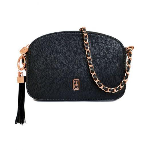 Tipperary Crystal | Cannes Shoulder Bag | Black