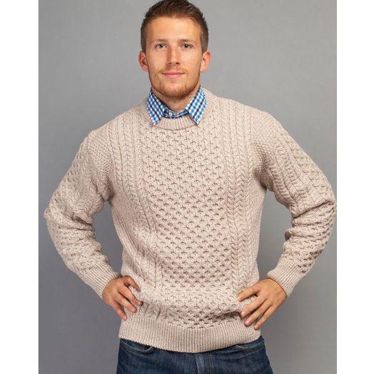 Traditional Crew Aran Sweater Unisex | Parsnip 2514