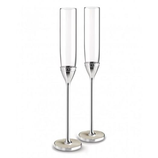 Vera Wang | With Love Silver Pearl Flute Pair