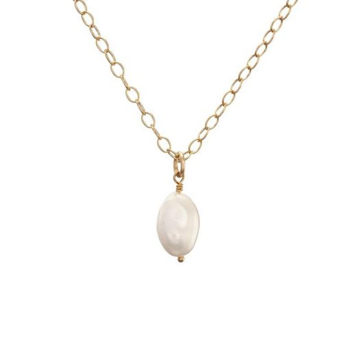 Lulu and Belle | Gold Baroque Pearl Pendant