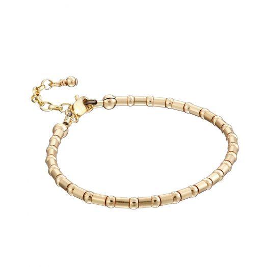 Scribble and Stone | 14kt GoldFill Crimp Bead Bracelet