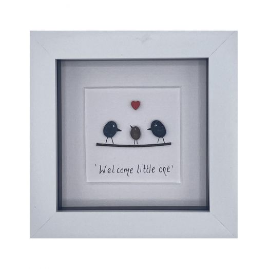 Simply Mourne | Welcome Little One Frame- White