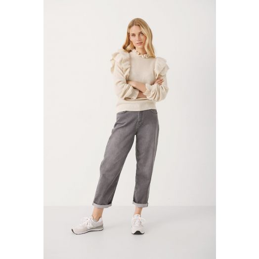 Part Two   KamilePW Knitted Pullover - Whitecap Grey