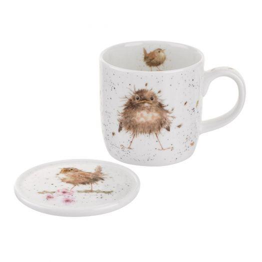 Wrendale | Flying the Nest Mug and Coaster Set