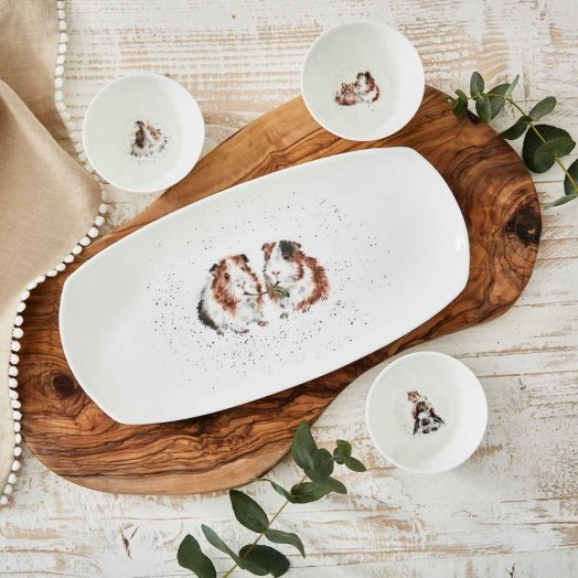 Wrendale | Lettuce Be Friends 3 Dishes and Tray Set