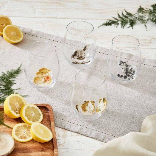 Wrendale | Set of 4 Tumbler Glasses